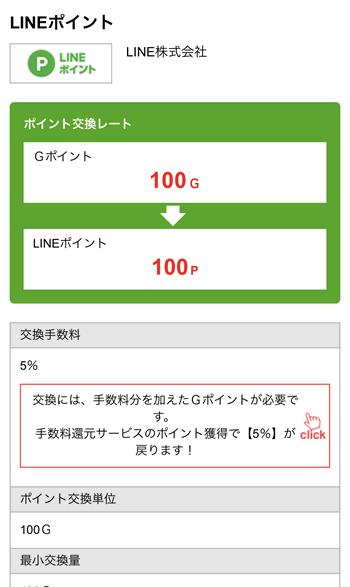 Gポイント LINEポイント交換